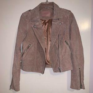 BLANKNYC Denim Pink Suede Moto Jacket